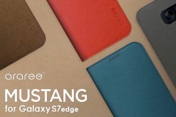 c50d6dd10f araree、Galaxy S7 edge手帳型ケース「マスタング」発売