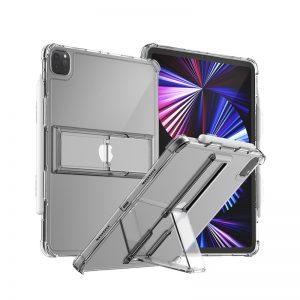 【iPad Pro 12.9インチ (第5世代) / iPad Pro 11インチ (第3世代) 】ペンホルダー付きスタンドケース FLEXIELD クリア